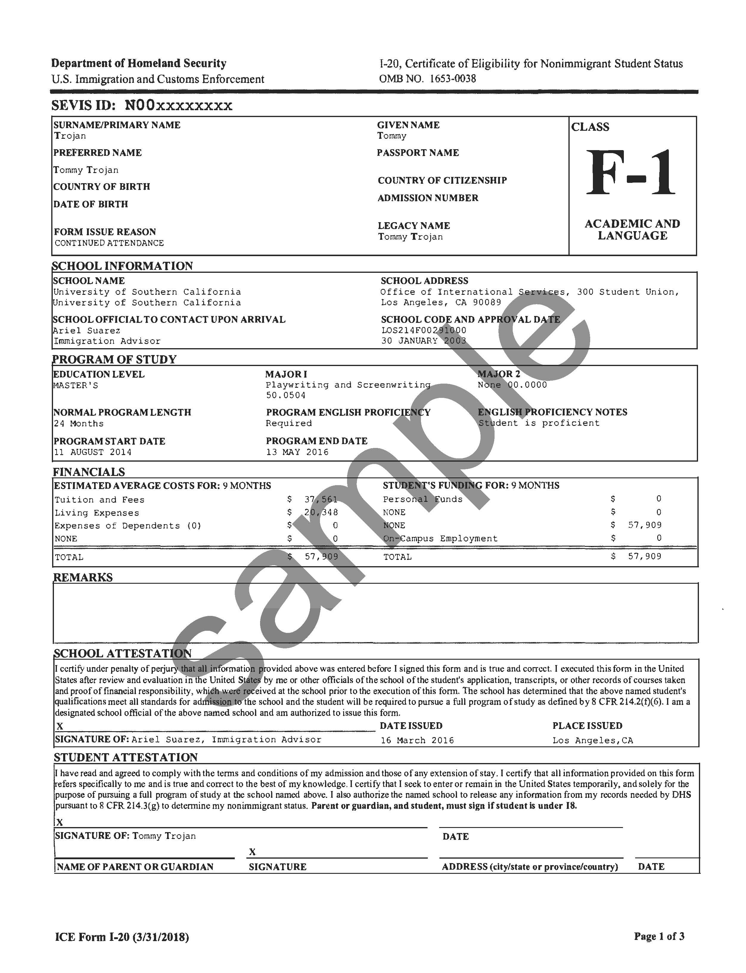 A Redesigned Form I-20 Available at OIS | Office of International ...