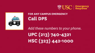 For any campus emergency, call DPS